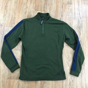 Babe Didrikson Pullover Green Quarter Zip Size Lg
